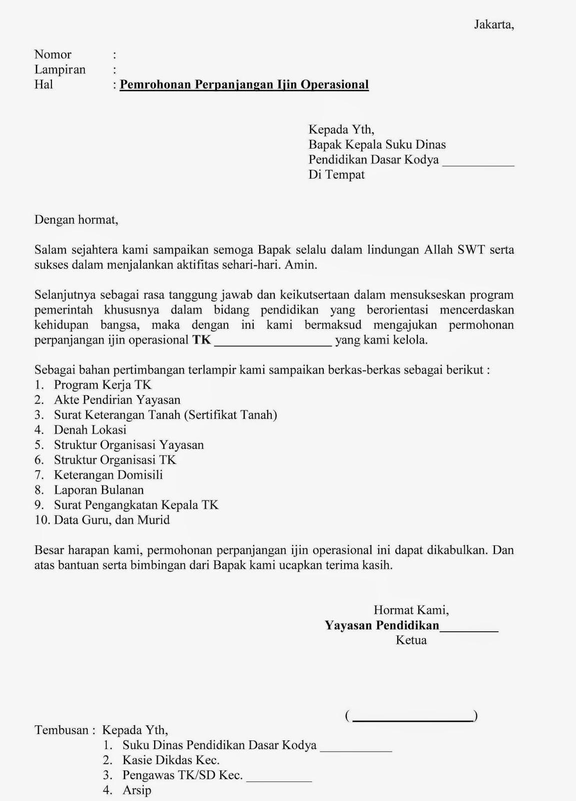 13 Contoh Surat Permohonan Izin Kegiatan ( Kerja ...
