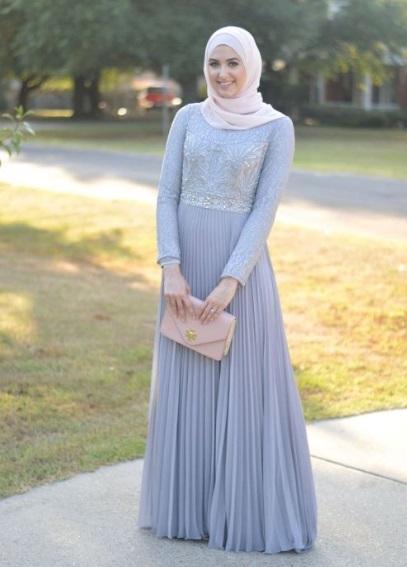 Model Baju Gamis Lebaran Terbaru 2019