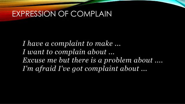 Dialog Expressing Complaint