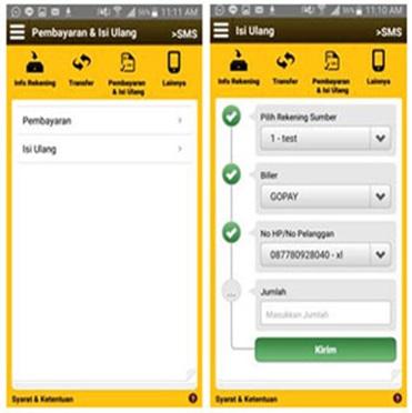Cara mengisi GoPay dari M2U Maybank App