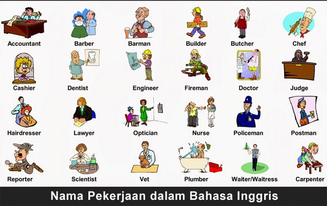 Nama Pekerjaan dalam Bahasa Inggris