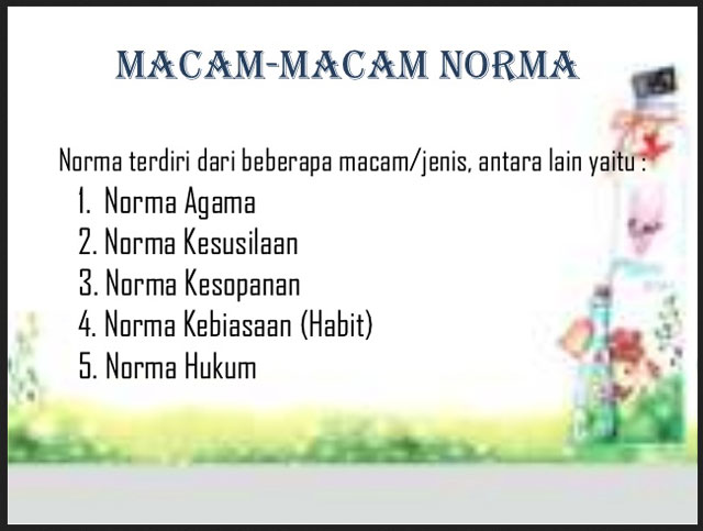 Pengertian Norma dan Macam–macam Norma