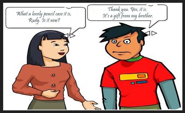Contoh Dialog Compliment 2 Orang Singkat