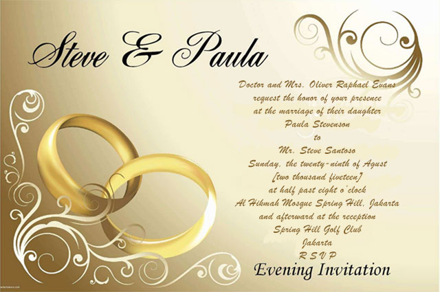 Contoh Wedding Card