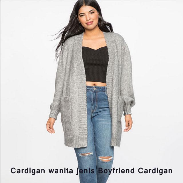 Cardigan wanita jenis Boyfriend Cardigan