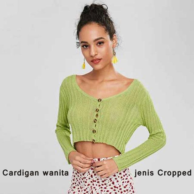 Cardigan wanita jenis Cropped