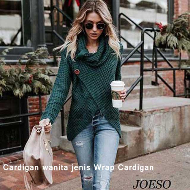 Cardigan wanita jenis Wrap Cardigan